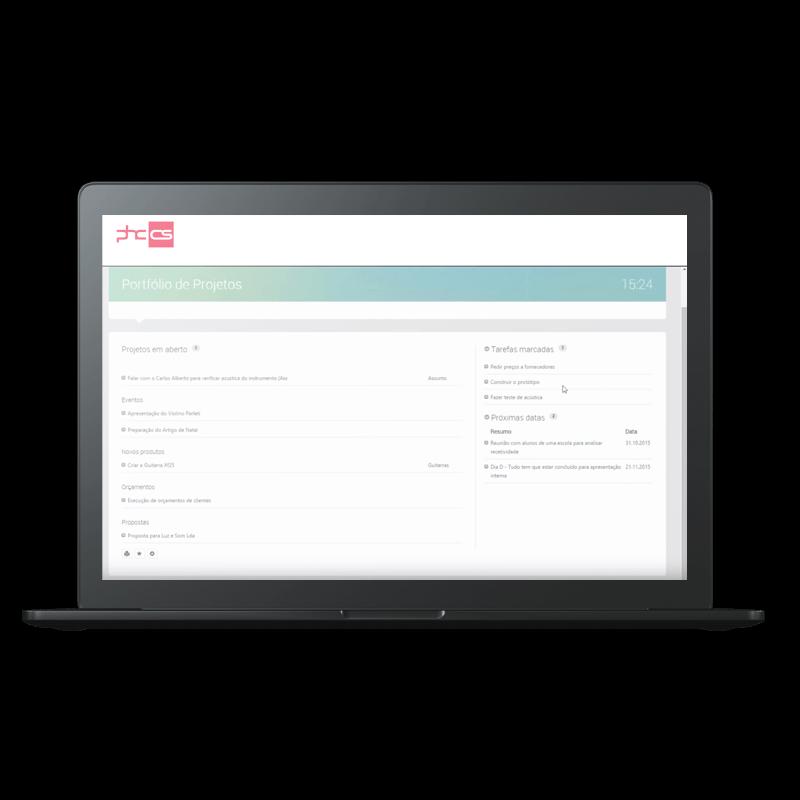 PHC Software - Equipas e Projetos Funcionalidades