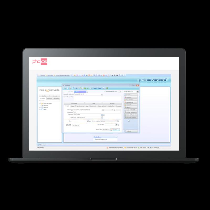 PHC Software - Construção Civil Funcionalidades