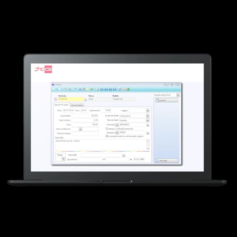 PHC Software - Frota Funcionalidades